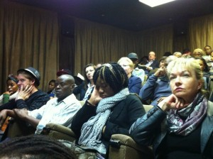 Audience in Johannesburg